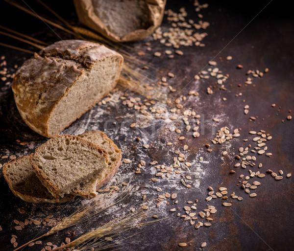 Ekmek ev yapımı gıda siyah karışık Stok fotoğraf © grafvision