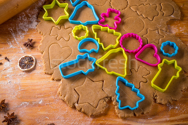 Dough and cookie cutters. Stock photo © grafvision