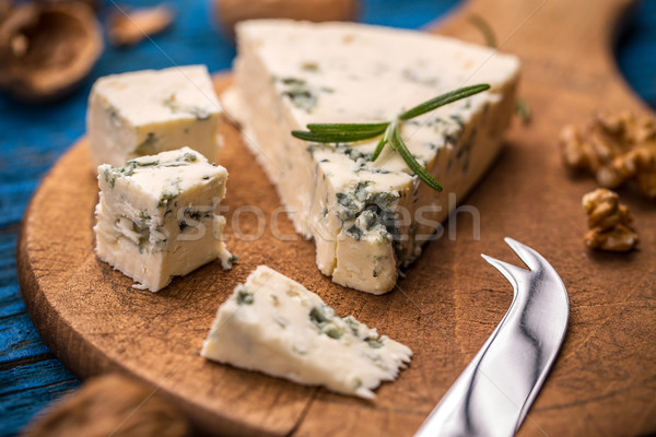 Slices of danish blue cheese  Stock photo © grafvision