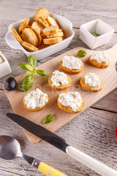 świeże twaróg pełnoziarniste śniadanie żywności Zdjęcia stock © grafvision