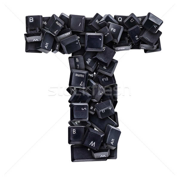 Letter T made of keyboard buttons Stock photo © grafvision