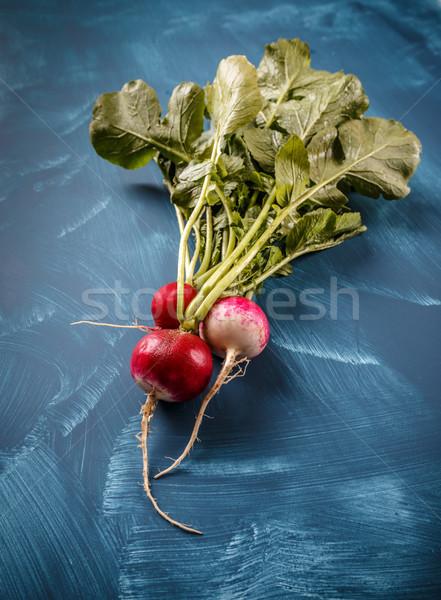 Kicsi kert retek kék étel zöld Stock fotó © grafvision