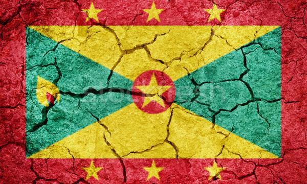 Grenada vlag drogen aarde grond textuur Stockfoto © grafvision