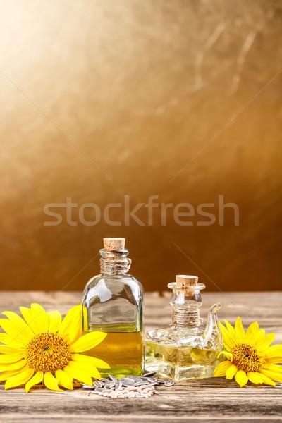 óleo de girassol azeite espaço flor fundo girassol Foto stock © grafvision