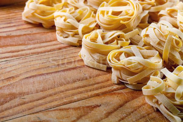 тальятелле итальянский пасты фон еды Сток-фото © grafvision