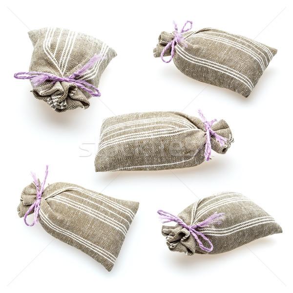 乾燥 薰衣草 紡織品 花卉 孤立 白 商業照片 © grafvision