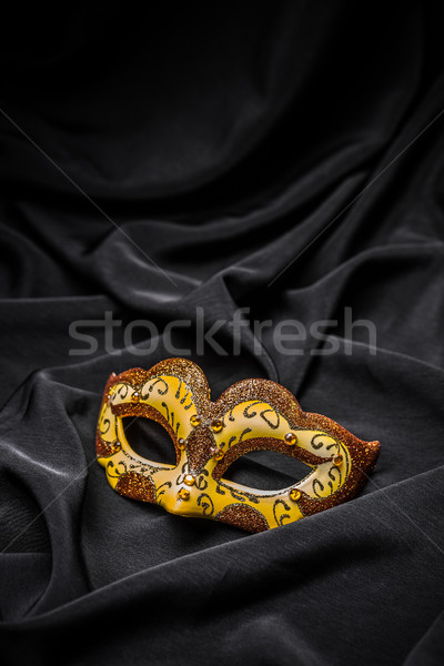Stok fotoğraf: Sarı · karnaval · maske · siyah · parti