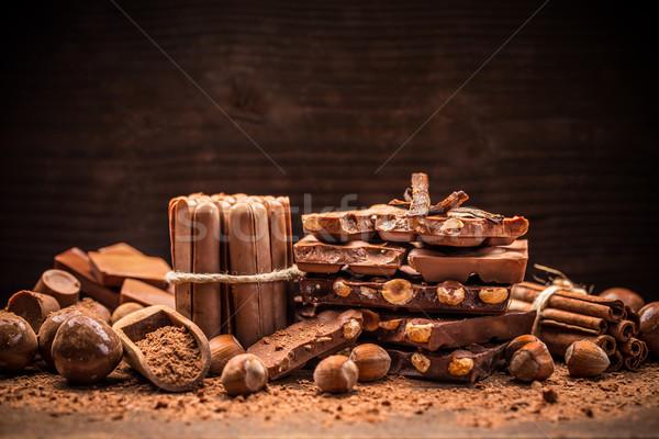 Sweet milk chocolate  Stock photo © grafvision