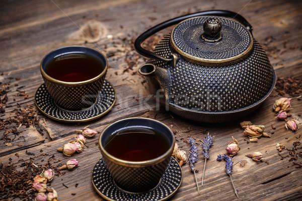 Asian iron tea pot Stock photo © grafvision