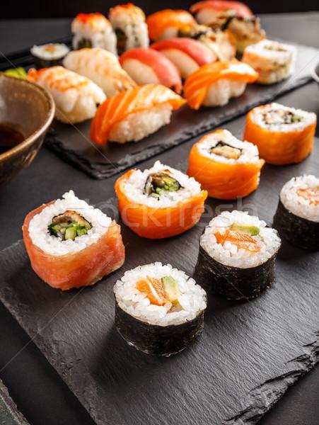 Japanese tasty sushi set Stock photo © grafvision