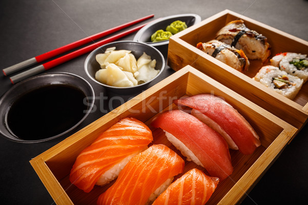 Various kinds of sushi Stock photo © grafvision