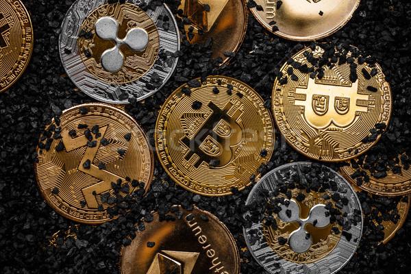 Cryptocurrencies new digital money Stock photo © grafvision