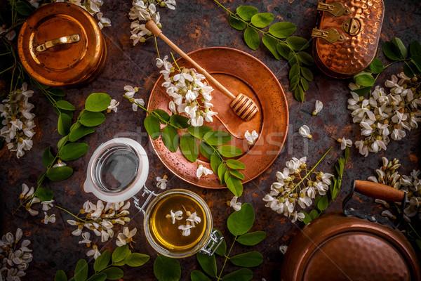 Jar of honey  Stock photo © grafvision