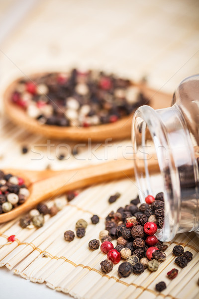 Peperkorrel ontwerp tabel kok Stockfoto © grafvision