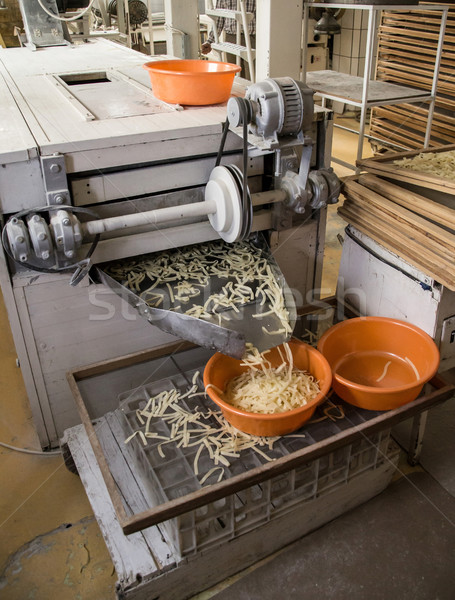 Makaronu produkcji produkcji line przemysłu roślin Zdjęcia stock © grafvision