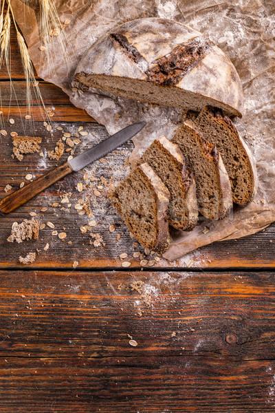 рожь хлеб пространстве пшеницы темно Сток-фото © grafvision