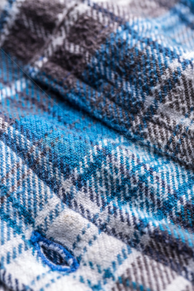 Stockfoto: Blauw · weefsel · knoopsgat · textuur