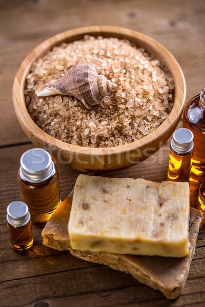 Salt, oil and soap Stock photo © grafvision