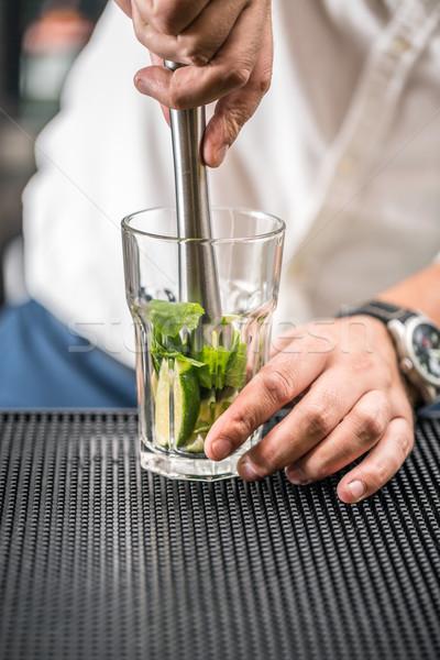 Mojito cocktail drink Stock photo © grafvision