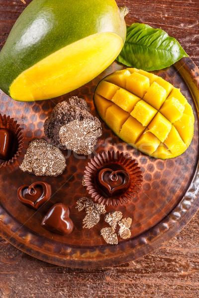 グルメ チョコレート 先頭 表示 食品 パーティ ストックフォト © grafvision