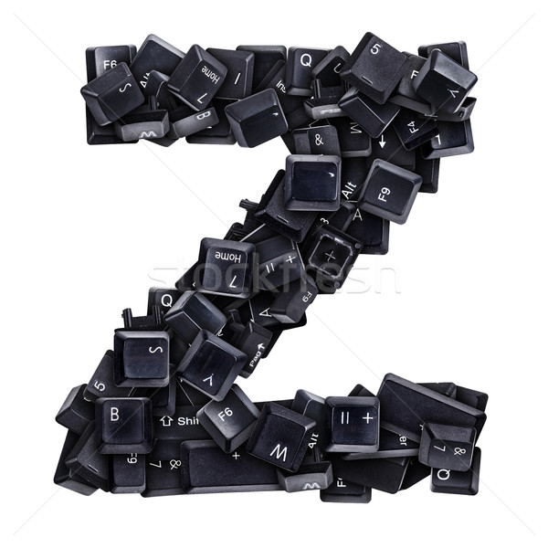 Stock photo: Letter Z made of keyboard buttons