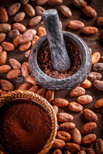 Stock foto: Boden · Kakaobohnen · Stein · Schokolade · Anlage