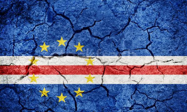 Foto stock: República · bandeira · secar · terra · terreno · textura