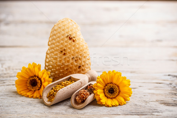 Producten lege propolis bee honing gouden Stockfoto © grafvision