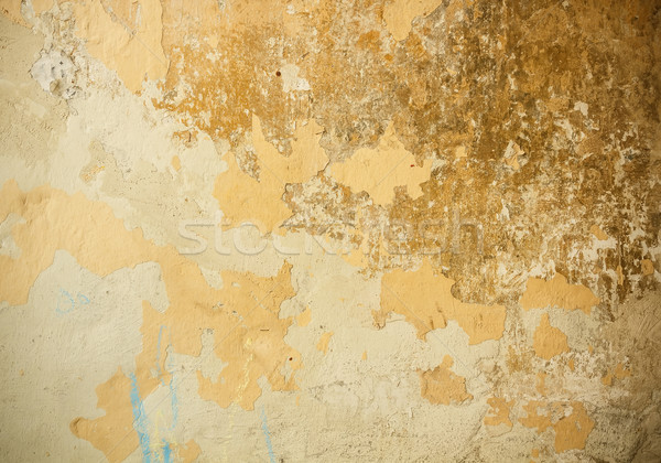 Stock photo: Old plaster wall