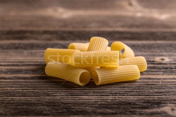 Pile of raw rigatoni Stock photo © grafvision
