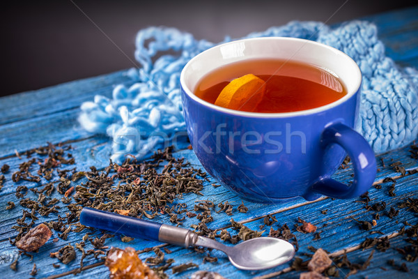 Cup with black tea Stock photo © grafvision