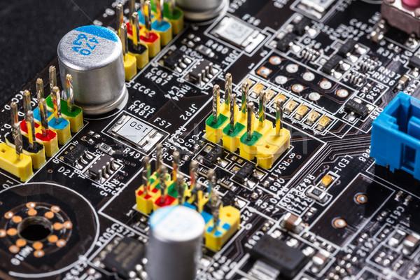 Eletrônico placa de circuito processador internet fundo Foto stock © grafvision