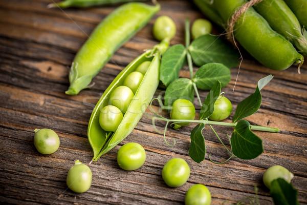 Frescos verde vaina alimentos vegetales Foto stock © grafvision