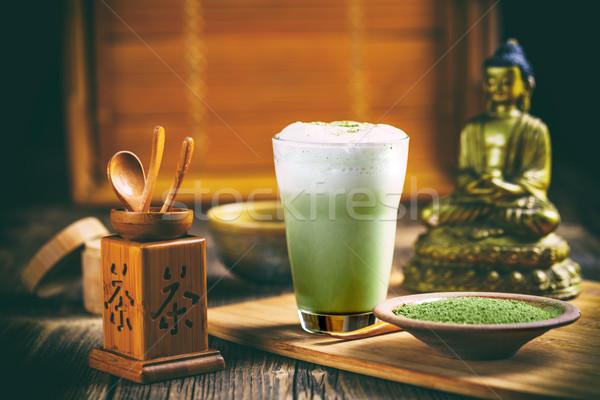 зеленый чай Кубок зеленый чай свежие культура Сток-фото © grafvision