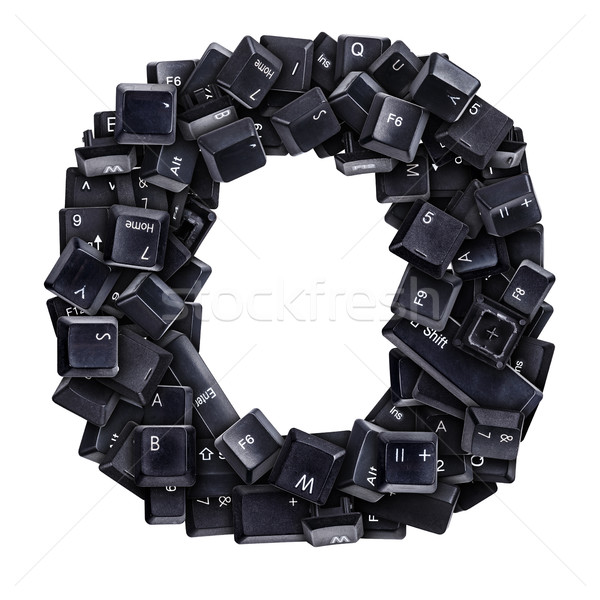 Stock photo: Letter O made of keyboard buttons
