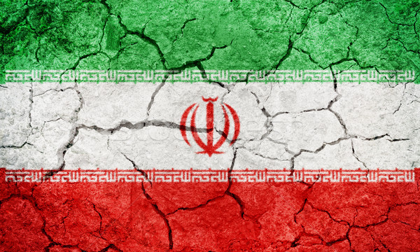 República Irã bandeira secar terra Foto stock © grafvision