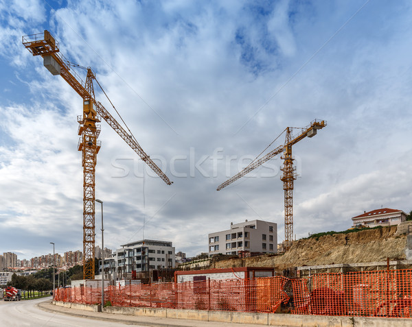 Construction site background Stock photo © grafvision