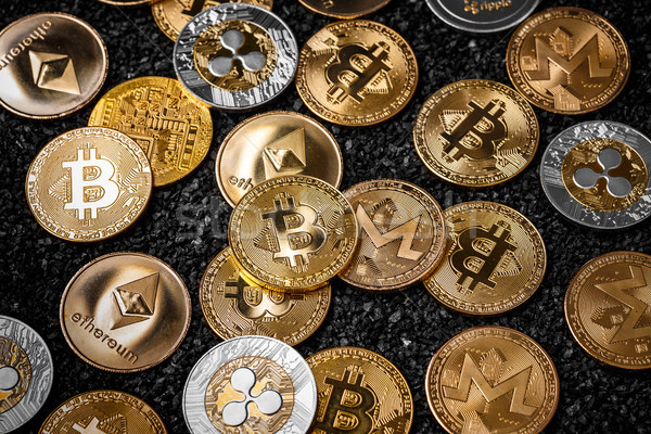 Stack of cryptocurrencies Stock photo © grafvision