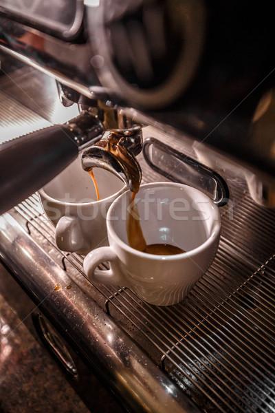 Espresso makine kahve birahane bar Stok fotoğraf © grafvision