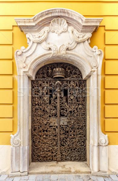 арки металл двери желтый Церкви стены Сток-фото © grafvision