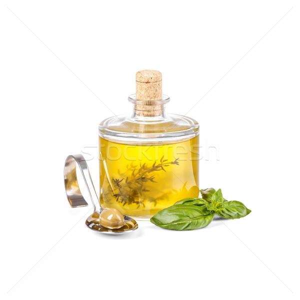 дополнительно девственница оливкового масла стекла бутылку Сток-фото © grafvision