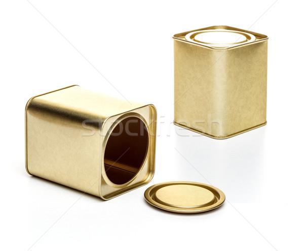 Small metal tea box Stock photo © grafvision