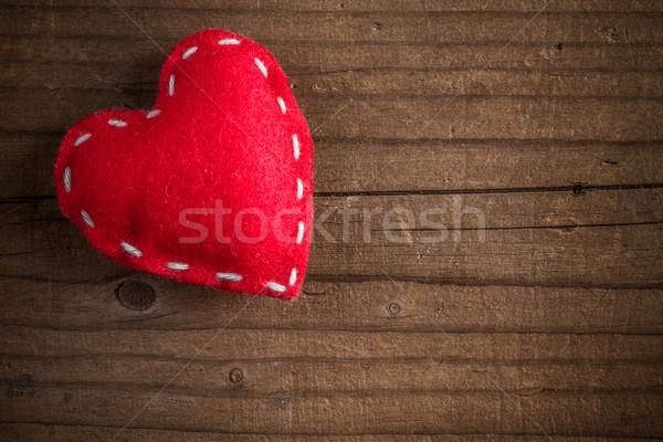 Stitched felt heart  Stock photo © grafvision