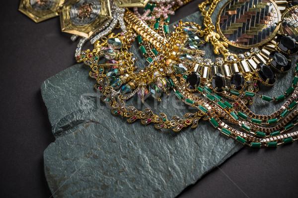 женщину черный моде группа Diamond Сток-фото © grafvision
