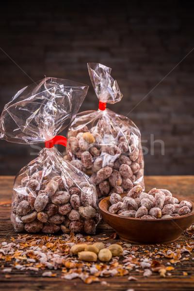 Salado cacahuates dos energía objeto Foto stock © grafvision