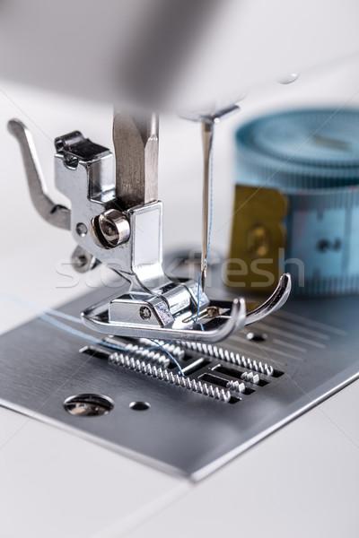 Dikiş makinesi iğne plaka ayak sanayi beyaz Stok fotoğraf © grafvision