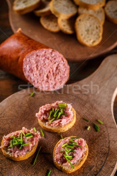 Savory smoked German teewurst Stock photo © grafvision