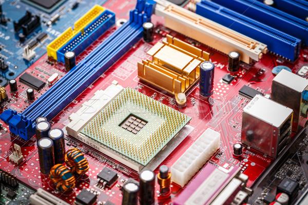 Ordenador CPU tecnología bordo pin chip Foto stock © grafvision