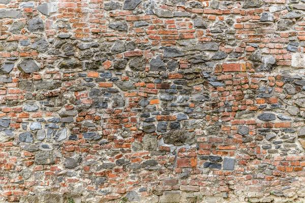 Dengesiz taş tuğla duvar model doku Bina Stok fotoğraf © grafvision