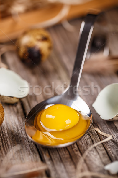 Fresh quail egg Stock photo © grafvision